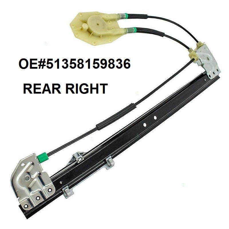 OE#51358159836 COMPLETE ELECTRIC AUTO WINDOW REGULATOR REAR RIGHT FOR BMW 5 SERIES E39 1995-2004