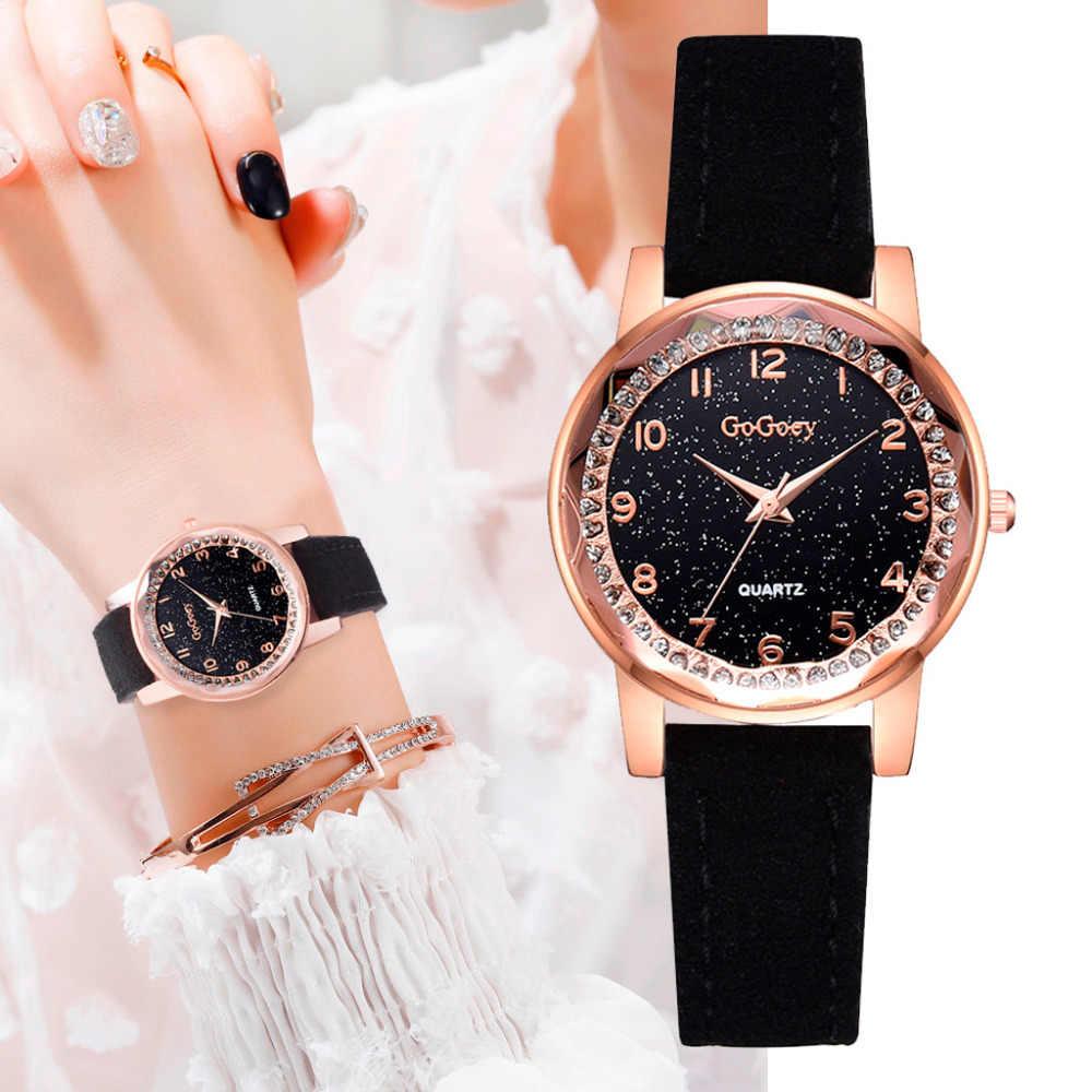 קטן חיוג עם יהלומים שחור כוכב שמלת אוטומטית אישה שעון יד שעונים לנשים ילדי גיל ילדה יוקרה Reloj Hombre *