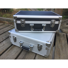 Hand-held Aluminum Alloy Toolbox Household Maintenance Toolbox Certificate Receiving Box Magic Projects Box shipping free nrh4207 air box handle aluminum box wooden box ring toolbox handle chrome plated iron no spring function