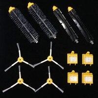 High Quality 2 Bristle Flexible Beater Brush 4 Hepa Filter 3 Armed Brush Kit For IRobot