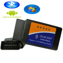 2016 Newest Obd2 elm327 bluetooth adapters Auto Scan tools elm 327 v 1.5 Works On Android elm327 obd2 ii Car diagnostic tool