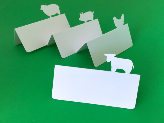 Farm Animals place cards rustic Wedding Party Escort Tent seating table number card Placecards & Farm Animals place cards rustic Wedding Party Escort Tent seating ...
