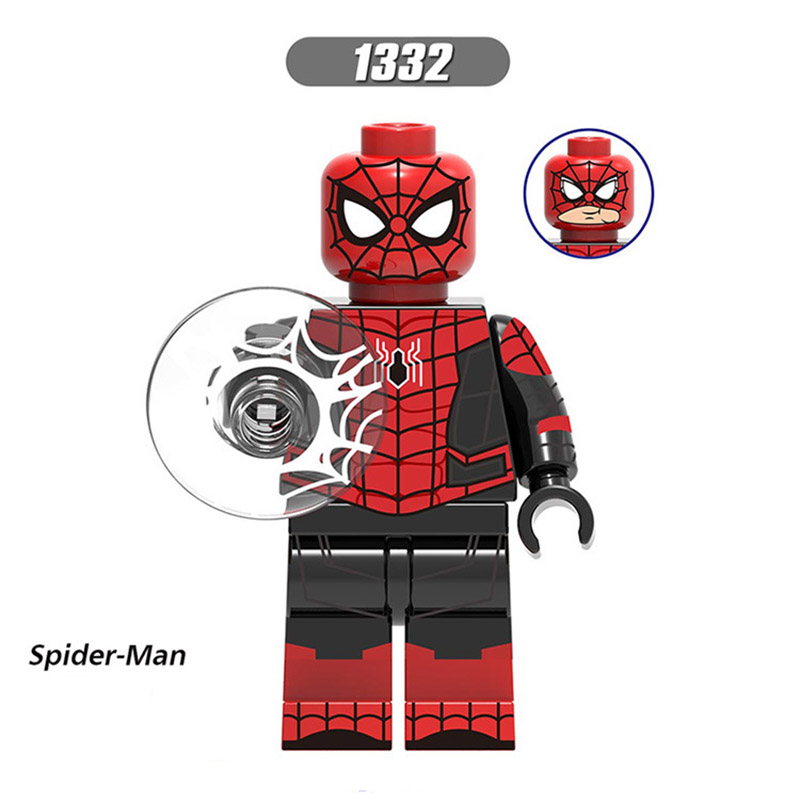 Single Sale LegoINGlys Super Heroes Far From Home Spider-Man Minifigure Mysterio Maria Hill Hydro-Man Ned-Liz Bricks Toys Gift