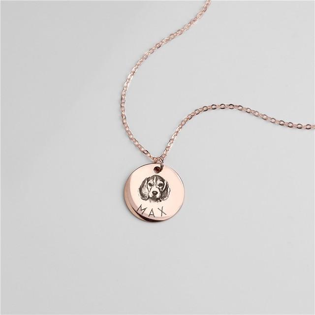 Custom Animal Photo Necklace