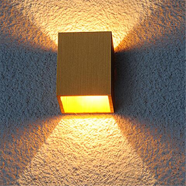 Awesome DIY Modern Creative Small Cube 4 Colors Aluminum Led Wall Lamp For Living  Room Background Aisle