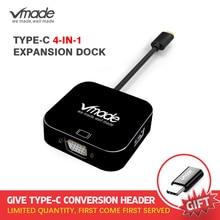 Vmade plus récent 4 en 1 type c USB C 3.0 HUB vers VGA Mini convertisseur pour Huawei/Samsung S8/S8 +/MacBook Pro type c Mini adaptateur