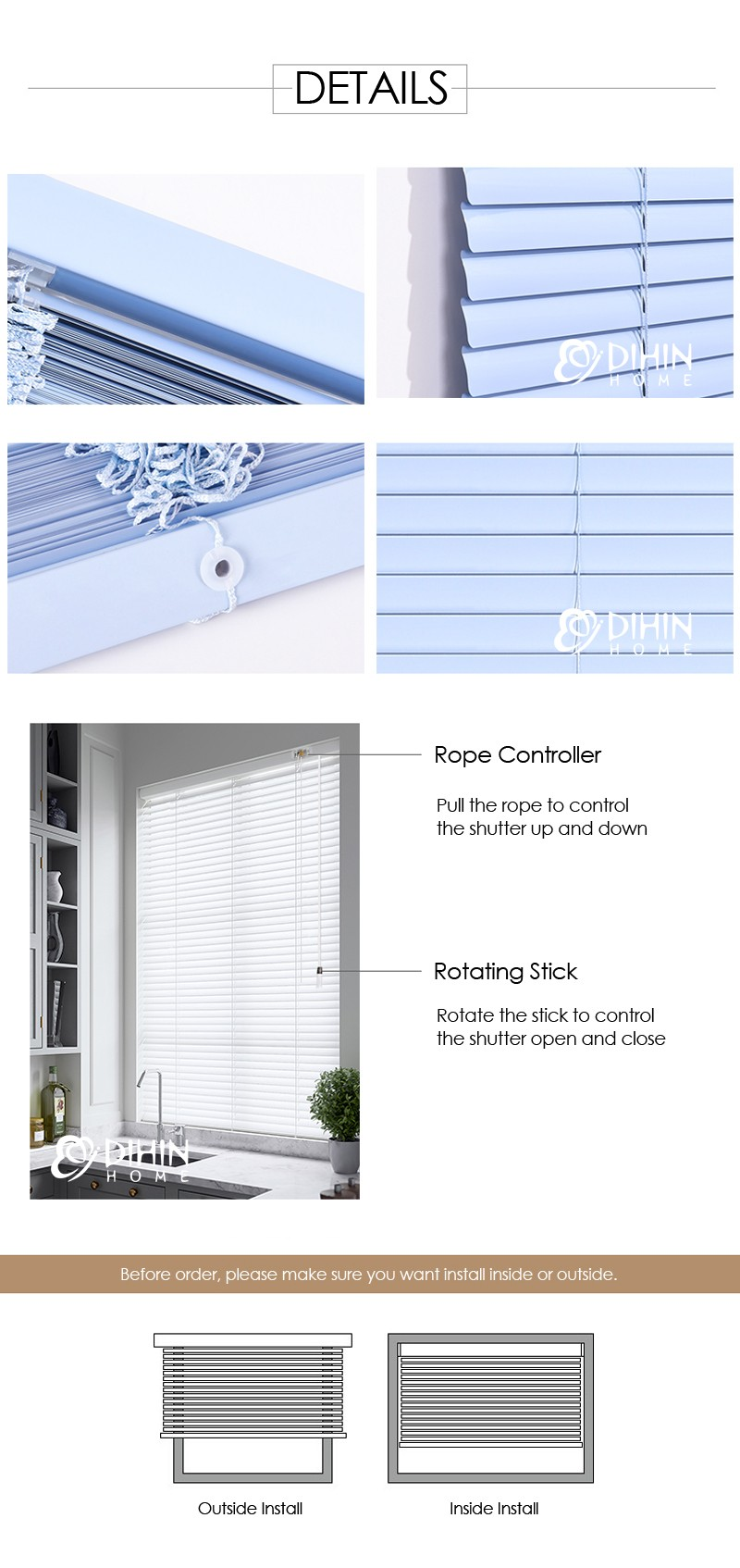 Free Shipping Popular Modern Shutter Roller Blinds Custom