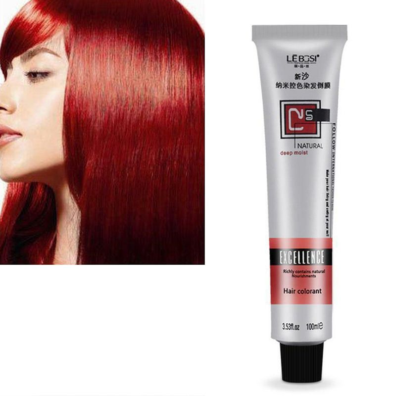 1 Pcs Fashion Professional use Hair Cream Non-toxic Hair Tint Colorant Semi Permanent Long Lasing Hair Cream Color Dye Paint image
