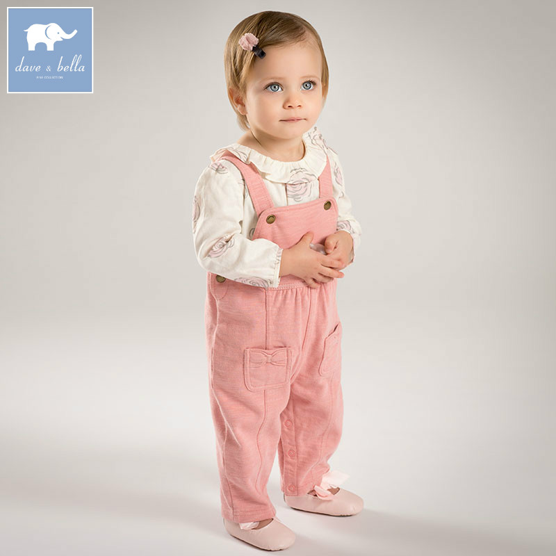 DB5158 dave bella autumn toddle overalls baby girls lovely overalls infant clothes baby cute overall children clothes