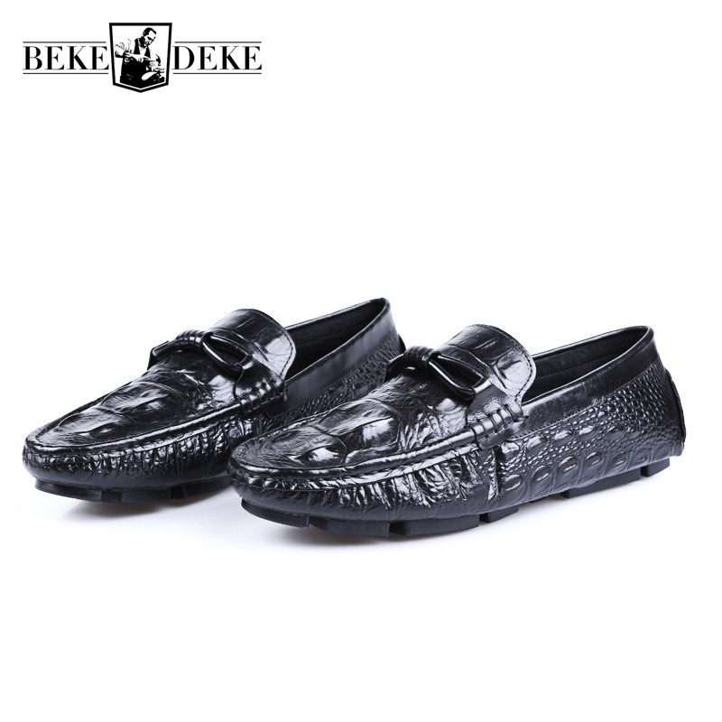 Top Brand Mens Genuine Leather Moccasin Gommino Casual Slip On Flats Loafers Comfort Antiskid Driving Shoes Large Size Footwear klywoo breathable men s casual leather boat shoes slip on penny loafers moccasin fashion casual shoes mens loafer driving shoes