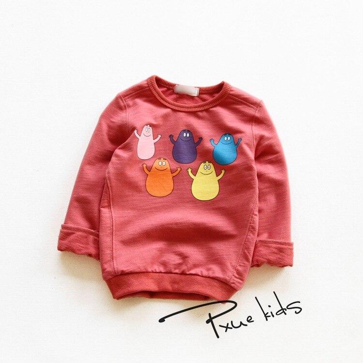 Girls Boys Sweatshirts Cotton Cartoon Children Sweatshirts For Baby Girl Boy Hoodies Coats 2017 New Spring kids Clothes