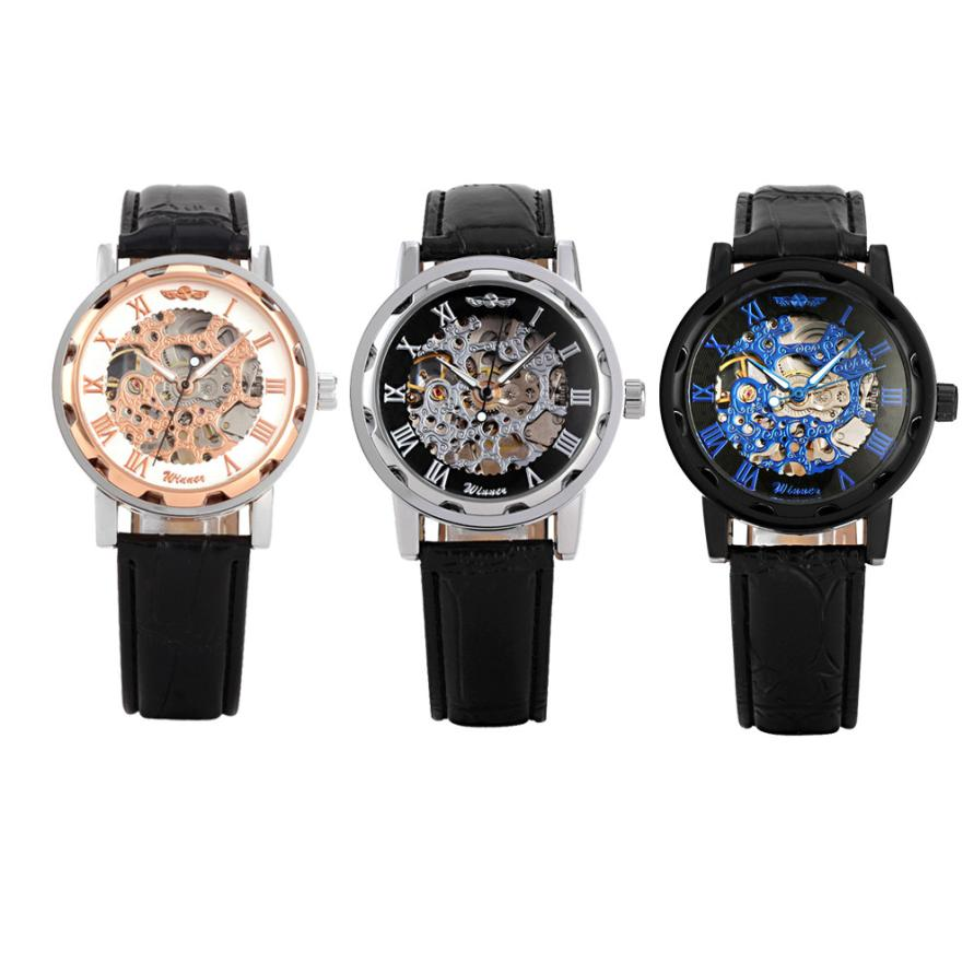 online get cheap latest men watches leather aliexpress com oktime 2017 latest men s watches classic men s black leather dial skeleton mechanical sport army wrist watch