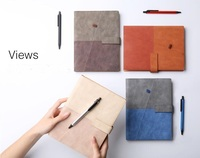 Creative New Business Travel Notebook A5 Loose Leaf Diary with Pens, Colors Matched Manager Personal Agenda Planner Notepad