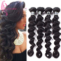 4 Bundles Indian Virgin Hair Loose Wave, 100% Unprocessed Virgin Indian loose Wave Stema Hair Loose Wave Annabelle Hair Weave