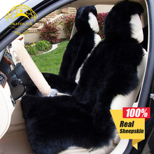 OKAYDA Seat covers fur Australia sheepskin Car universal Interior accessories cushion deluxe winter warm high free shipping