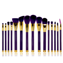 Professional 15pcs Set Make up Brushes Brand Cosmetic Brush Make up Tools Kit White/purple No Logo
