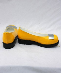 VOCALOID 3 seeU Korean uniform cosplay lolita punk kawaii costume boots yellow single shoes(China)