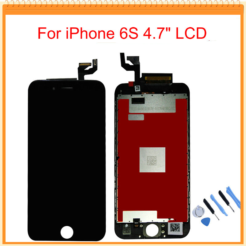 For iPhone 6S LCD Display With 3D Touch Screen Digitizer Assembly Black White Colors Tools Free