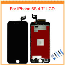 For iPhone 6S LCD Display With 3D Touch Screen Digitizer Assembly Black/White Colors +Tools Free Shipping