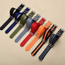 Heavy duty nylon straps18mm 20mm 22mm 24mm Nylon Watch Band NATO Strap Zulu strap watch ring buckle