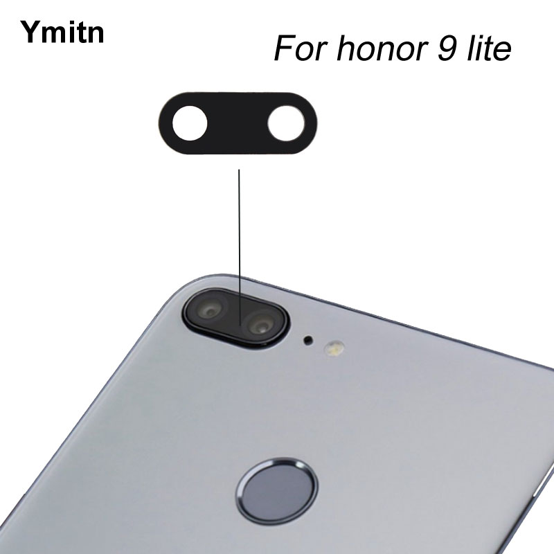 2Pcs New Ymitn  Housing Back Rear Camera Glass Lens With Adhesive For Huawei Honor 9 Lite