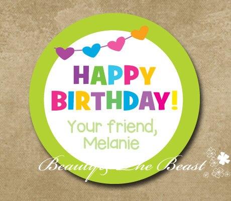 birthday banners personalized gift birthday sticker label birthday