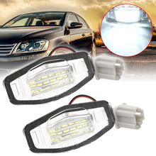 цена на 2pcs/set 18SMD 12V Car License Plate Light Lamp Car Boats Motorcycle License Plate Light For Honda Civic Accord Acura TL TSX MDX