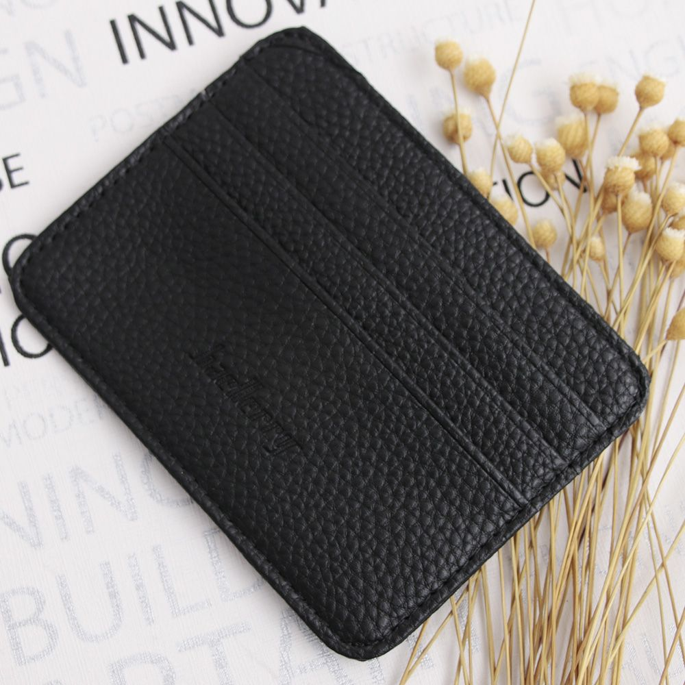 ISKYBOB 1PC Mens PU Leather Wallet Front Pocket Slim Mini Credit Card ID Holder Purse Free Shipping