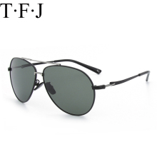 TFJ Brand Men 100% Polarized Aluminum Alloy Frame Aviation Sunglasses Fashion Men's Driving HD Polarized Sunglasses UV400