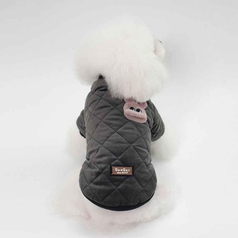 따뜻한 강아지 강아지 코트 옷 마름모 격자 무늬 자켓 인쇄 된 개 조끼 의상 작은 중간 개 가을과 겨울 의류