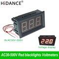 AC 30 V ~ 500 V de voltaje Digital del voltímetro del medidor de dos 0,56 110 V/220 V fuente de alimentación eléctrica Voltimetro detector comprobador indicador