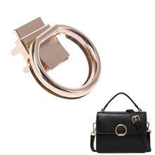 Fashion New 1 Pc Round Shape Metal Clasp Turn Lock Twist Lock Hardware For DIY Craft Replacement Handbag Bag Purse Accessories round shape metallic twist lock crossbody bag