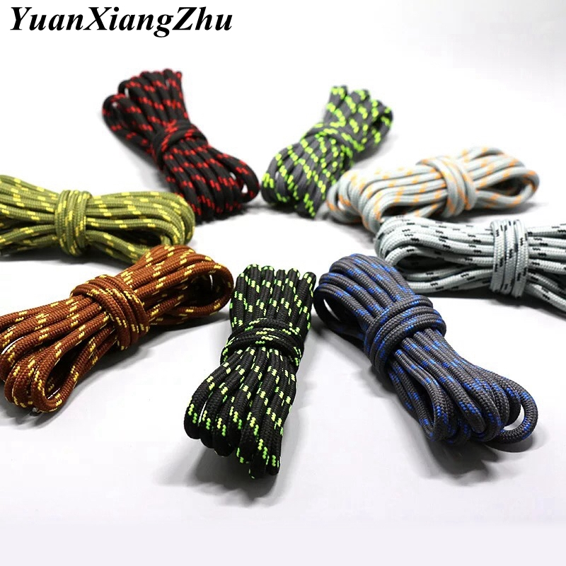 1Pair outdoor sport round shoelaces for boots hiking slip rope shoe laces sneakers shoelace strings100/120/140/160CM 19 Colors