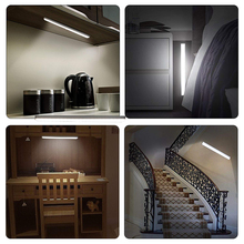 USB Rechargeable Dimmable 68 LED Under Cabinet Light PIR Motion Sensor Cabinet Closet Night Light for Wardrobe Cupboard Kitchen