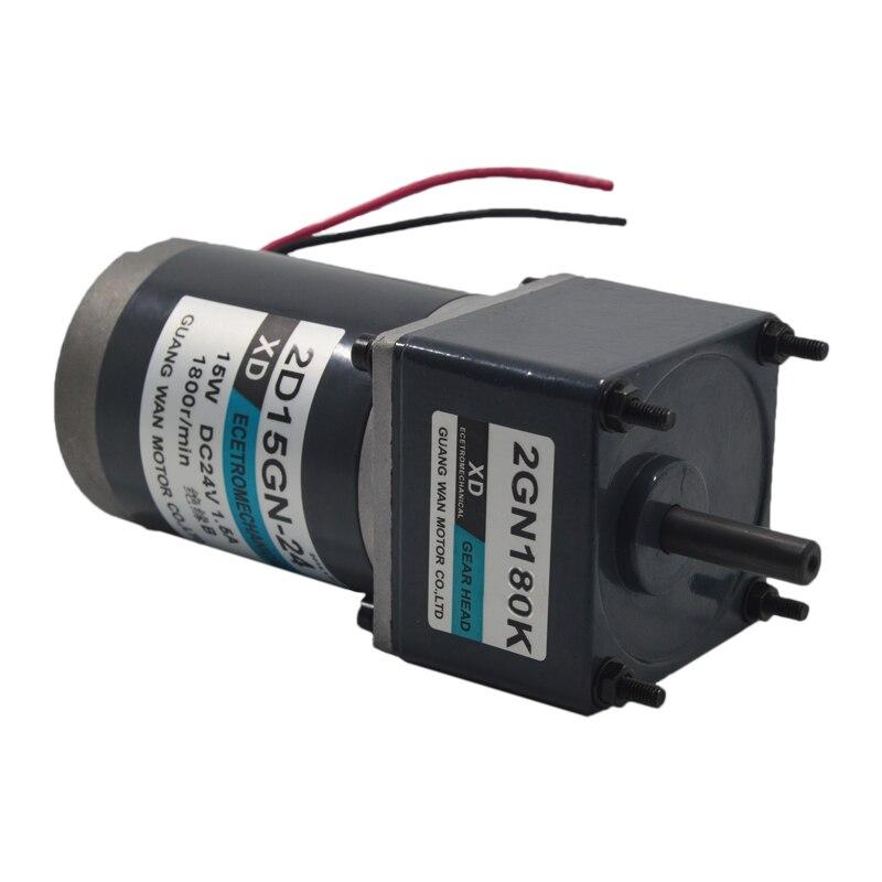 DC12V/24 V 15 W 2D15GN-24 miniature DC motoréducteur outils électriques/équipement/bricolage accessoires moteur