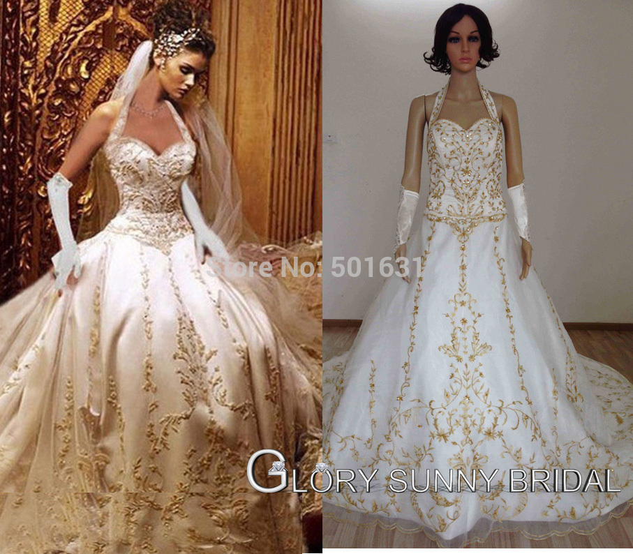 Free Shipping Best Quality Custom Satin Bridal Gown With Royal Train ...