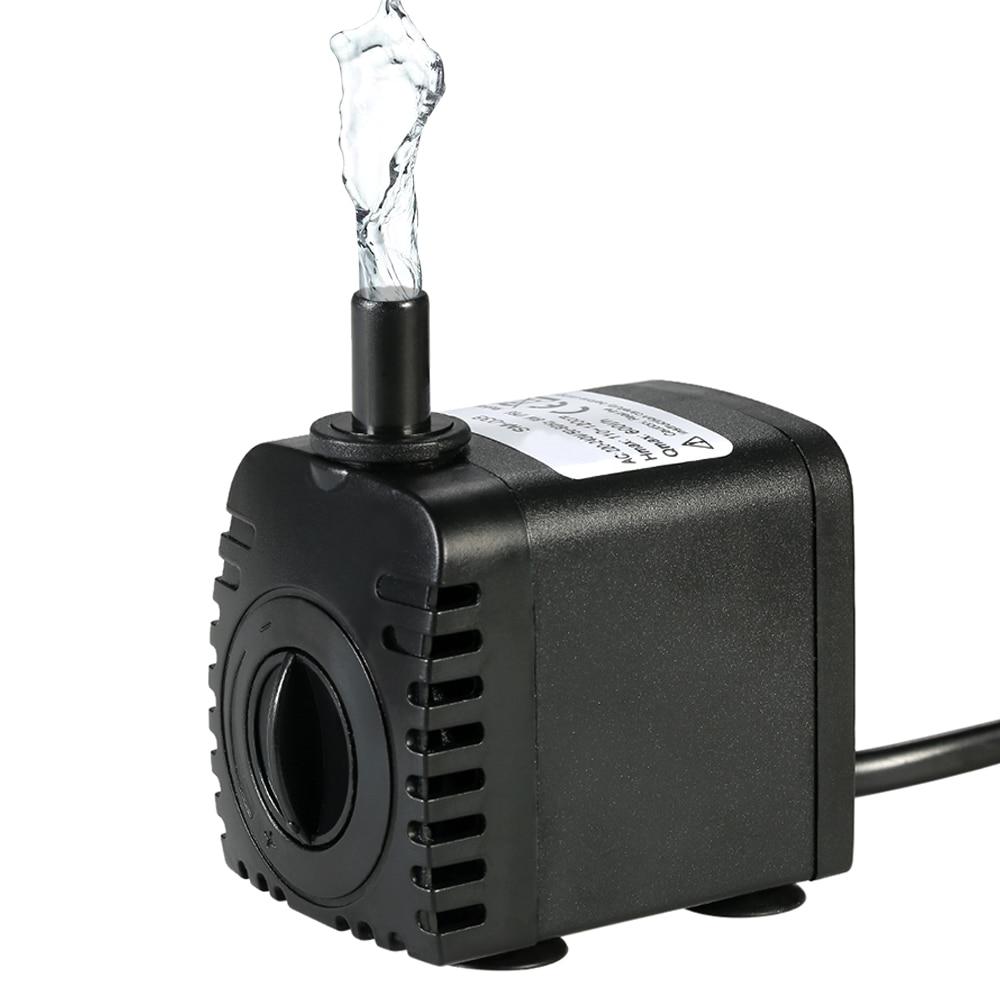 600L/H 8 W bomba de agua sumergible para acuario fuentes Mesa estanque agua jardines y los sistemas hidropónicos con 2 boquillas AC110V