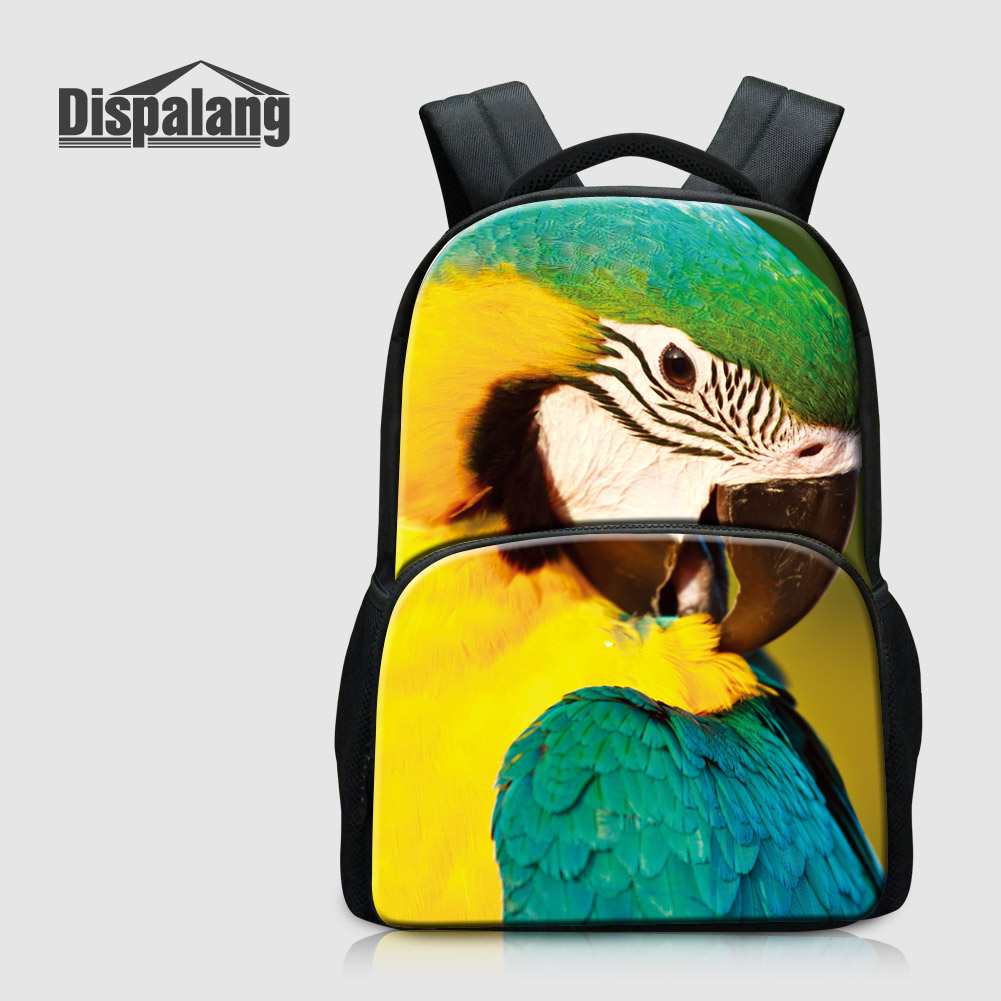 Dispalang Lucky Owl Printing Backpack For Children Fashion School Bags Colorful Bird Mochilas Feminina Animal Rucksack Sac A Dos lucky goes to school