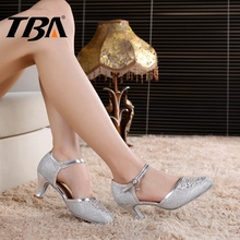 Ladies Ballroom Dance Shoes Latin Woman Salsa Chaussures,Luxury Quality Jazz Sneakers,Buckle Strap Mujer Party Med Heels Zapatos