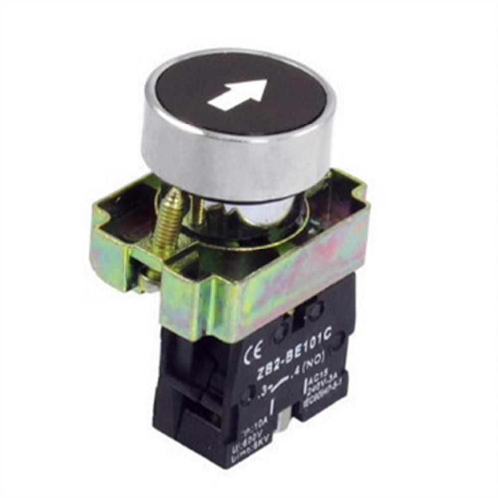 1 Pc 22mm 1 NO N/O Black Sign Momentary Push Button Switch 600V 10A ZB2-BA3351 Free Shipping