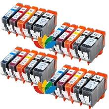 20 Pack Printer Ink Cartridge For Canon 450 451 PGI CLI PIXMA MG6340 MG7140 MX924 IX6840 IP7240 jet