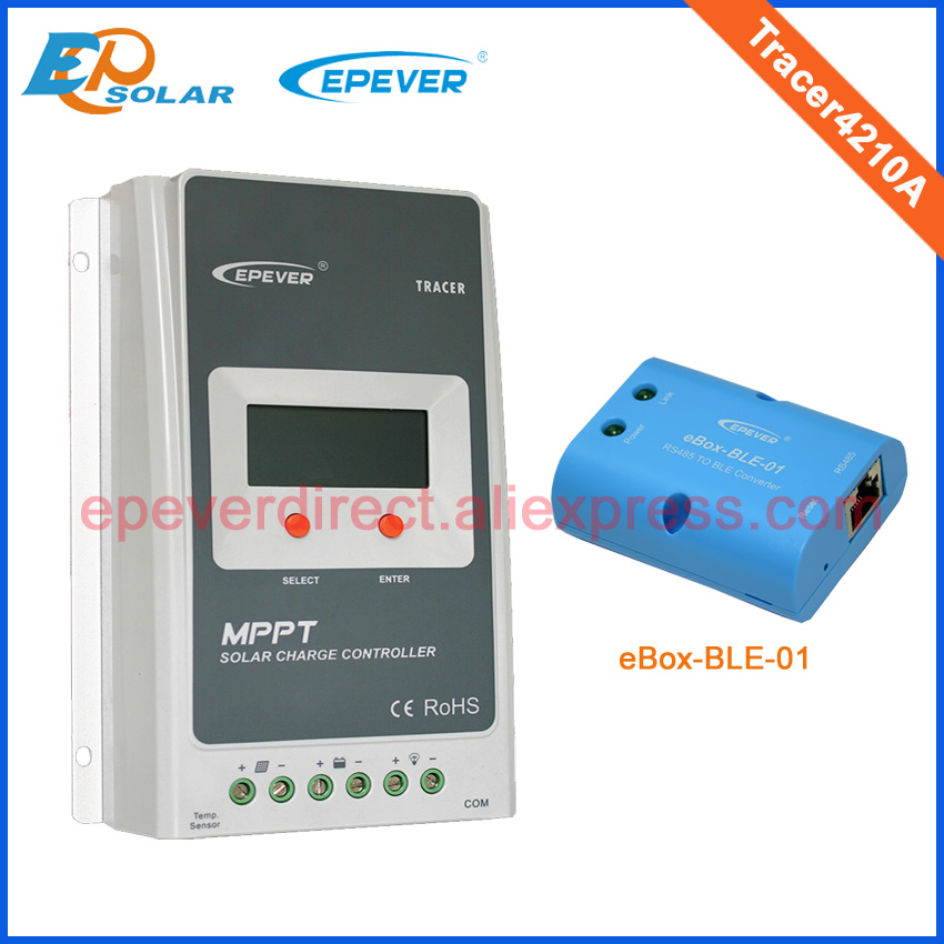 40A mppt charger solar battery controller tracer4210A 40amp 12v 24v auto type with BLE BOX connect APP use