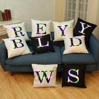 Fabricantes Atacado Personalização Led Criativo Travesseiro Almofada Carta Led Sem Inserir Almofada Para Cadeira Do Sofá