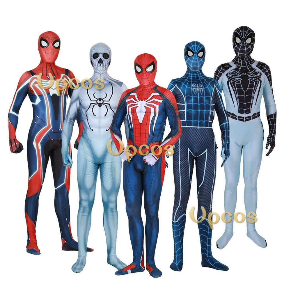 Jeu PS4 Spiderman Costume impression 3D vélocité SPIDERMAN peur elle-même Costume enfants adulte Spider Man Costumes cadeau