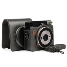 NEW Camera Bag Protective Case PU Leather With Adjustable St