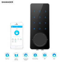 Smart Lock Electronic Door Lock APP Remote Code Touch Screen Keypad Deadbolt Entrance Digital with Key for Home Hotels Apartment