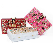 2016 Rushed Limited Pocket Single Cell Phone Pocket Hasp Upscale Female Pearl Engraved Dinner Package Bridesmaid Hand Handbag