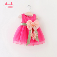 2017 For Toddler Girl First Brithday Baptism Clothes Double Formal Tutu Dresses Baby Girls Dress Big