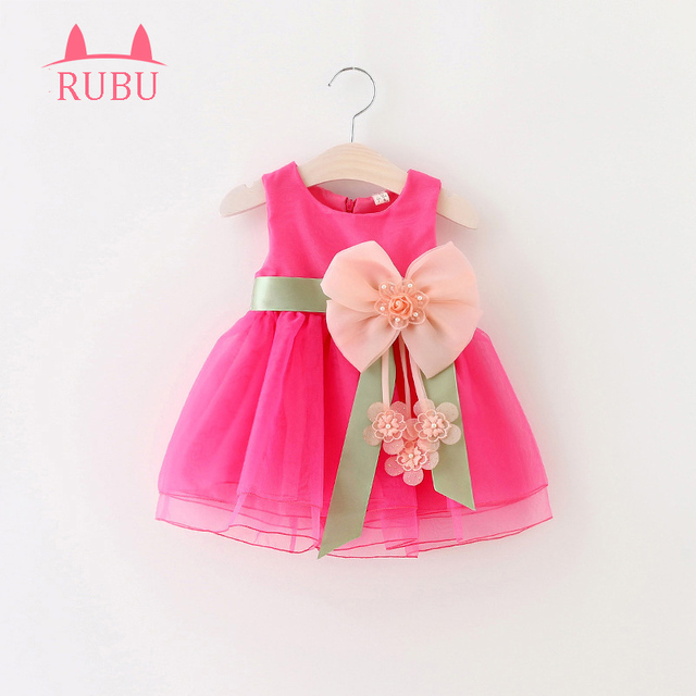 66bb8642 2017 For Toddler Girl First Birthday Baptism Clothes Double Formal Tutu Dresses  Baby Girls Dress Big Bowknot Infant Party Dress