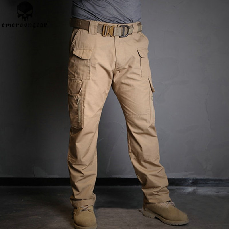 ФОТО EMERSON All-weather Outdoor Tactical Pants Combat Trousers Army Military Pants Men Cargo Pants for Hunting Paintball EM7035